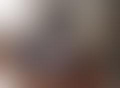 光が分かる程度の写真(左上に光、中央および右下に黒い影、影の間は白や赤っぽい色が少し見える)